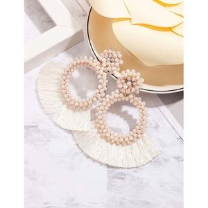 NWT white statement earrings